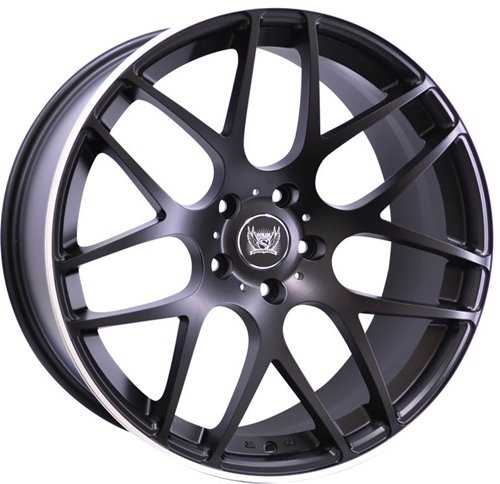 Llantas Soleil Wheels LXM-1 Black/polished lip