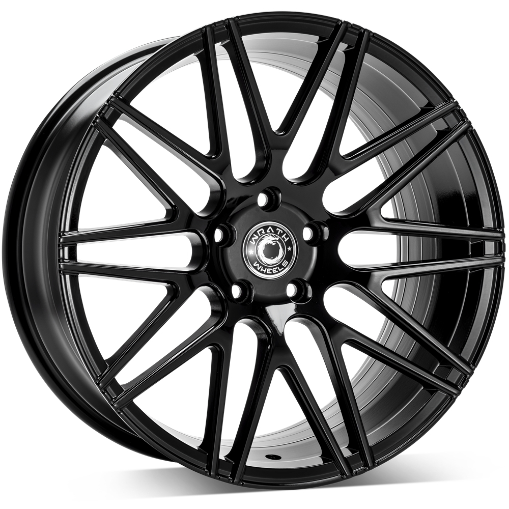 Llantas concavas Wrath wheels WF3 Negro brillo